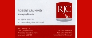 RJC Commercial Joinery - Robert Crummey 07976  262 270 e: robert@rjcjoineryltd.co.uk