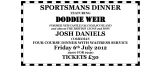 Sportsmans Dinner -6th July
