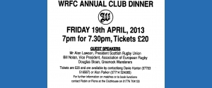 ANNUAL CLUB DINNER 2013