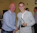 Adam Priestley is the big winner at Farsley AFC presentation night