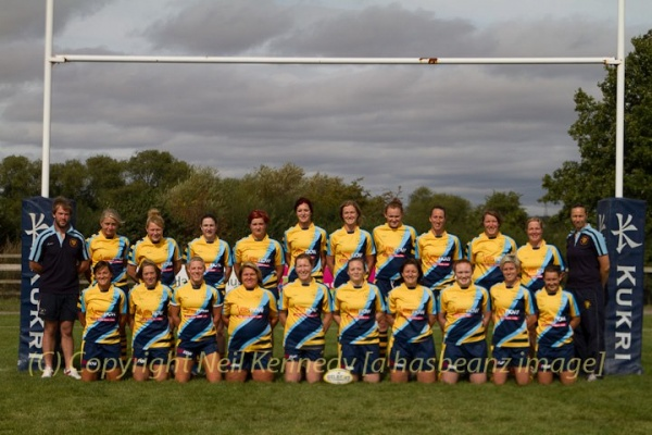 Back Row, Luke Fisher (Coach), Ceri Large, Lou Dennis, Sam Bree, Rhiannon Watkins, Jo Watmore, Jenny Brightmore, Bridget Mills, Kat Merchant, Rocky Clarke, Pippa Crews, Donna Kennedy (Coach).