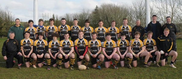 Back row:- Mike Frith(Asst coach), Sam Roberts, Charlie Reynolds, Jake Woodward, Jake Tarby, Rhys Bright, Tom Finch, Jack Oulton, Matt Elston, Tom Woolf, Andrew Pearce (Coach), Harry Baker, Nigel Spencer (Manager).