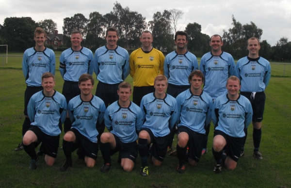 Back row (from left to right): Adam Russell, Ian Cropper, Simon Roden, Dale Selvester, Marcus McGuill, Charlie McDaid, Dean Hardstaff