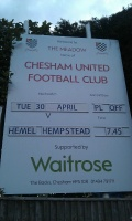 Chesham away (Playoffs April 2013) still