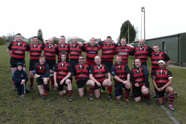 Back (L-R): Colin Standish, Tom Pickup, Paul Wilson, Jonny Wilkinson, Ross Housley, Warren Rimmer, Liam Flaherty, Pat Murphy, Darren Burley, Richard Garretty, Ian Hamilton.  Front (L-R): Allan Blythe, Mick Sykes, Colin Harris, Dale Earnshaw, Kevin Noble, James Headifen, Alex Bull
