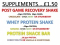 Protein Shakes Available at the Bar