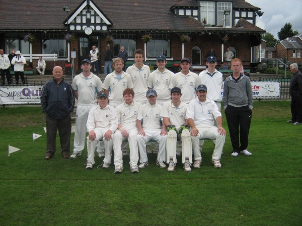 Back Row (Left to Right) Steve Allwright (Team Manager), Mike Eley, James Crichton, Sean Porritt, Rob Barber, Stuart Knott, George Barber, Ryan Hitchen (Scorer)