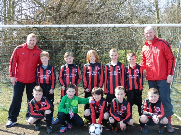 Our Under 9's play in the Hightown Junior Football League and train at the Tower Hill Community Centre astro turf pitches every Tuesday 6pm - 7pm.