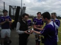 Dan Wise receiving his 3rd XI player of the year award before the first win of the season at the weekend