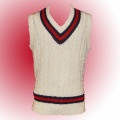 Traditional knitted acrylic cricket jumper - Slip Over/Sleevless.