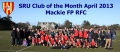 Mackie Wins SRU Club of the Month!!!!