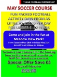 May Soccer School at Meadow View Park