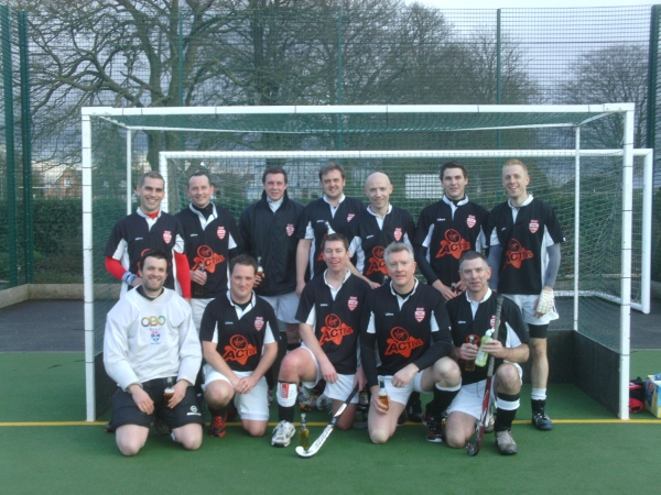 2012-13 Team after clinching promotino to div 3NW after hard fought win away at Spalding 3s.