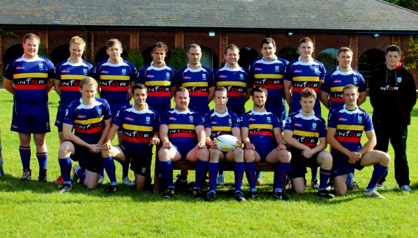 (back row) Matt Dalton, Anthony Comyn, Simon Magill, Alex Carroll, Danny Birks, Nick Maxwell, Ben Ashmore, Craig Smith, Mike Kelly, Tom Greevy;