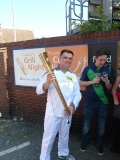 Our Chairman Runs with the Olympic Torch still