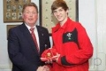 Lloyd Wins his Wales U16's Cap