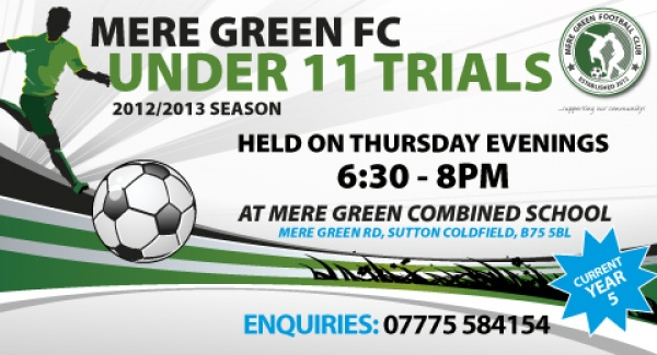 6:30-8pm - Thursdays - Mere Green Combined School