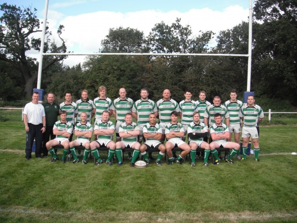 Top Left to Right - Tim Venus (coach), Paul Jenkins (1st XV Manager), Adi Iliff, Richard Nisbett, Luke Storer, Marcus Reilly, Jonathan Wayte, Jason Richards, Danny Wright, Jim Cooper, John Robert Allison, Adam Jardine, Matty Randle