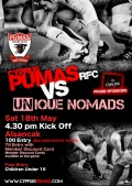 UNique Nomads to play Cyprus Pumas RFC