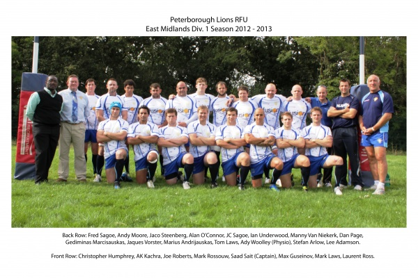                       Peterborough Lions 1st XV 2012-13