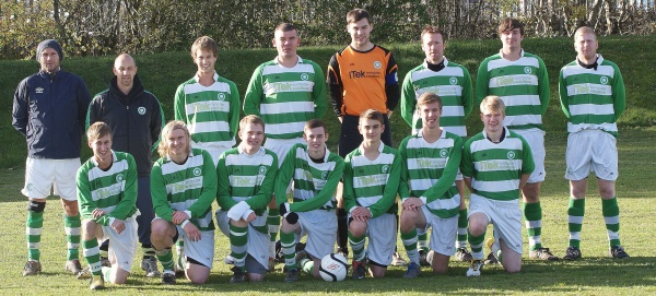 Top Left to Right: Krszystof Wronski, Mark Simpson (Manager), Nick Chaplow,Robert Downey, Dean Wicks,Dan Butcher, Daryl Moffat, Marc Brewer.