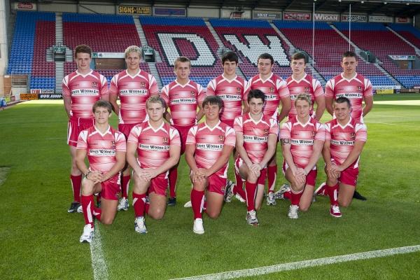 Back Row Left to Right: Joe Burgess, Ryan Sutton, Lewis Tierney, Rob Lever, Grant Beecham, George Williams, Arron Lewczenko