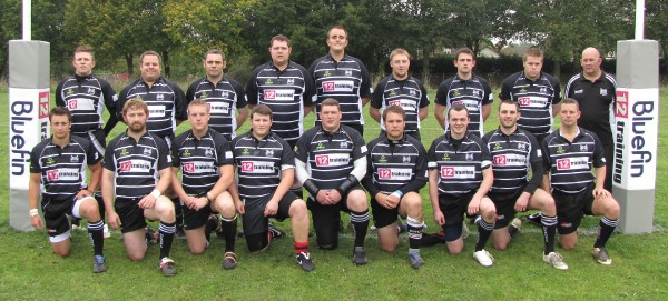 Back row (left to right) - Gareth Davies, Neil Forton, David Hones, Matt Hall, Chris Peacock, Mike Fitzgerald, Connor McKechnie, Ash Hill, Paul Darton