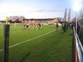 Sedgley v Widnes  Lancs Cup Semi. Steve Collins bursting through and realeashing Louis McGowan for a try   still